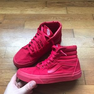 Red Vans Old Skool High Tops